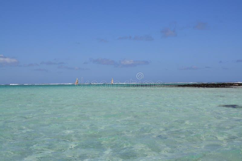 Lagun i turkosvatten arkivbild