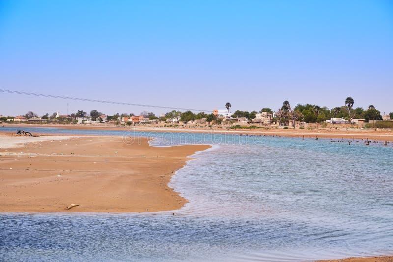 Lagun Somone - Senegal arkivfoto