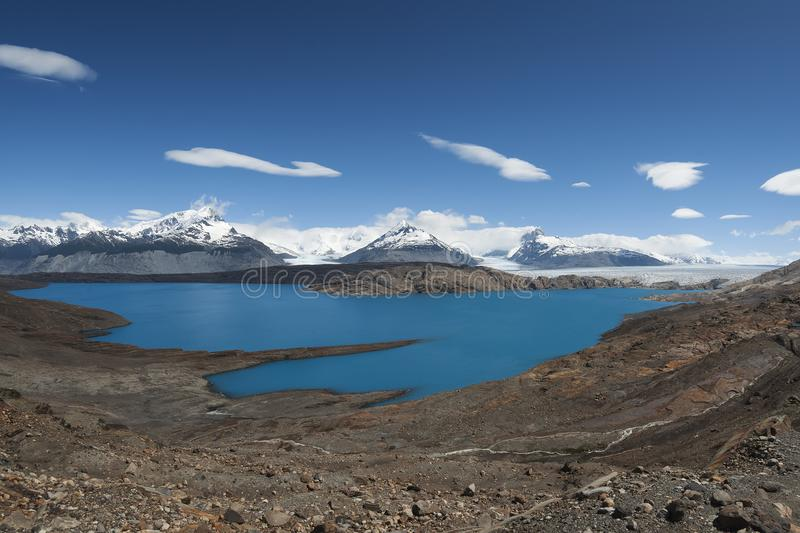 Laguna Anita i Upsala lodowiec w Patagonia, Argentyna obraz stock