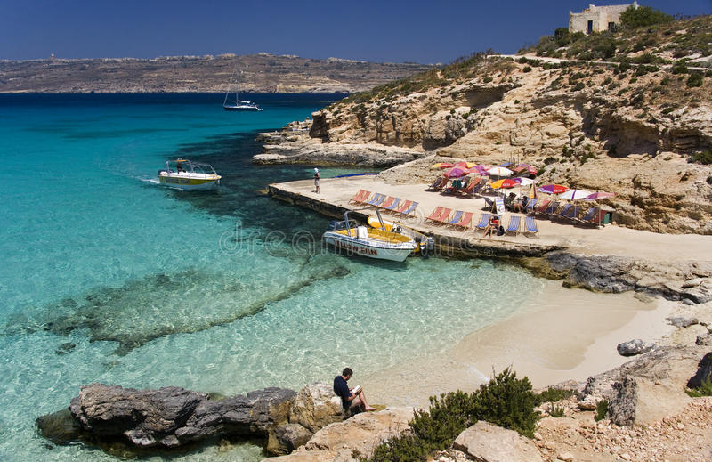Laguna azul - Comino - Malta imagen de archivo