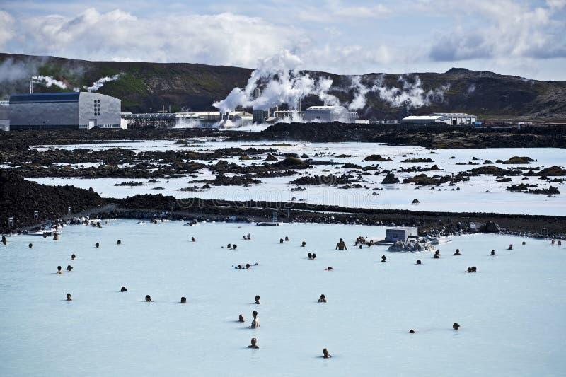 Laguna azul Islandia imagenes de archivo