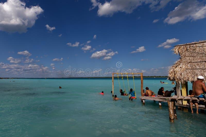Laguna Bacalar - watersporten 6 royalty-vrije stock afbeelding