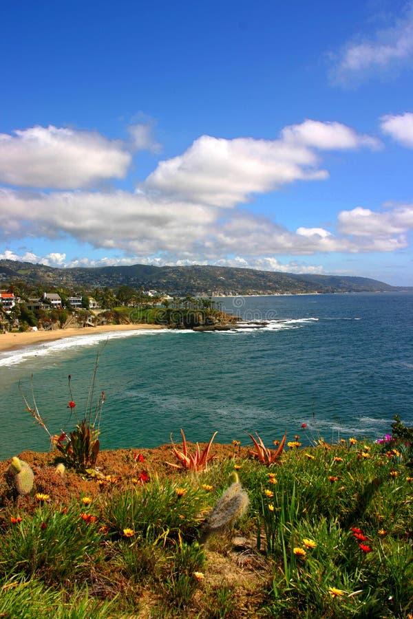 Laguna beach bay półksiężyca pionowe fotografia stock