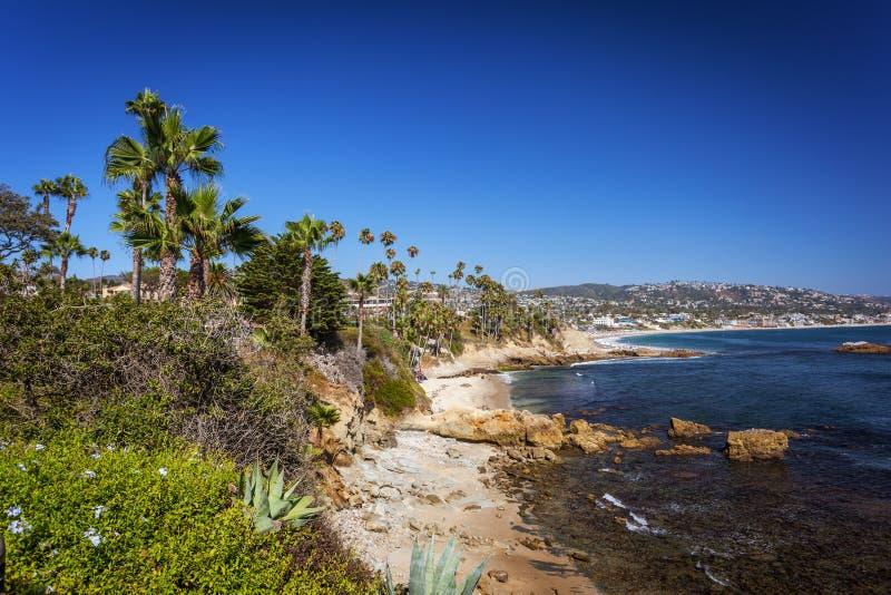 Laguna Beach bij Heisler-Park stock foto's