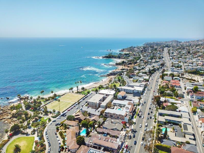 Laguna Beach CA linia brzegowa zdjęcie royalty free