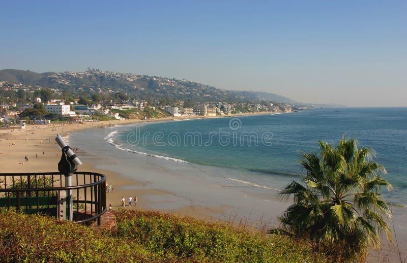 Laguna Beach California looking South. Laguna Beach California Main Beach looking south towards Dana Point royalty free stock photos