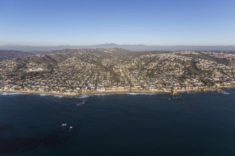 Laguna Beach Kalifornia anteny pejzaż miejski zdjęcie royalty free