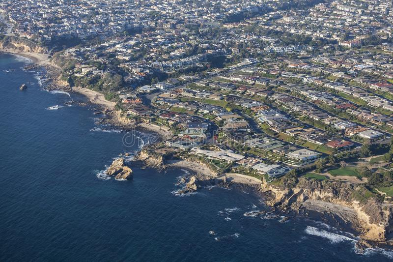 Laguna Beach Kalifornia wybrzeża widok z lotu ptaka fotografia royalty free
