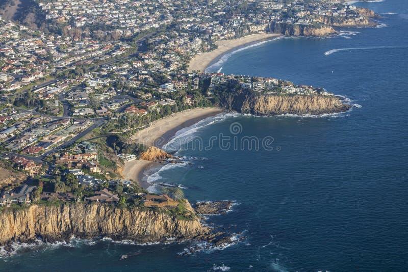 Laguna Beach Kalifornia wybrzeże pacyfiku zatoczki zdjęcie stock