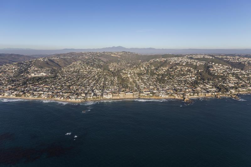 Laguna Beach-Kalifornien-Antennen-Stadtbild lizenzfreies stockfoto