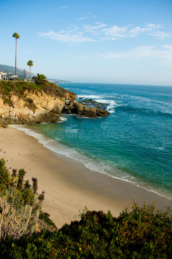 Laguna Beachküstezeile lizenzfreie stockbilder
