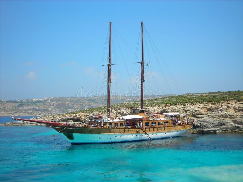 Laguna blu, Comino, Malta fotografia stock
