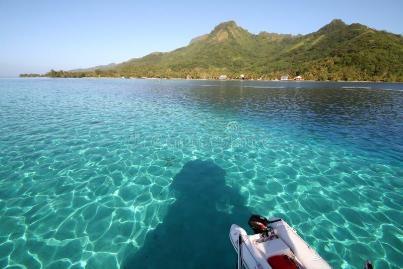 Laguna blu da una barca fotografia stock libera da diritti