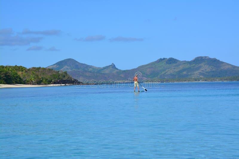 Laguna blu nelle isole Figi immagini stock