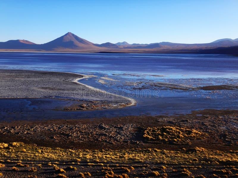 Laguna Chalviri en Bolivia. Paisagem da Lagoa Chalviri, situada na Bolivia royalty free stock photography
