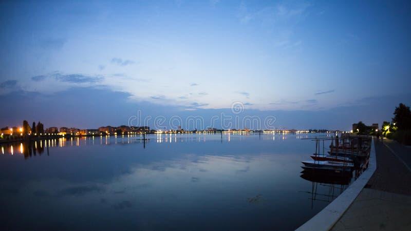 Laguna at Chioggia aftes sunset. Venice, Italy Canon stock photo