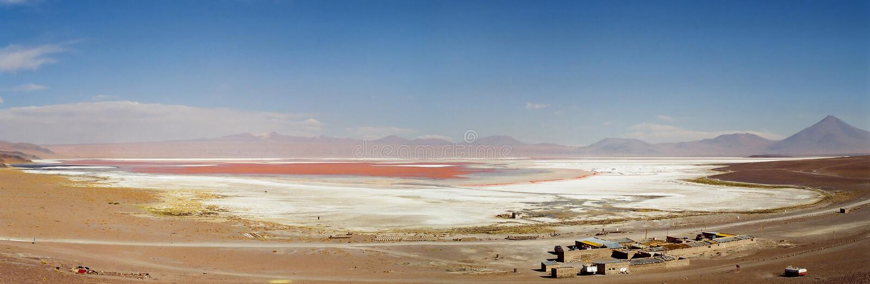 Laguna Colorada à Salar de Uyuni, Bolivie photo stock