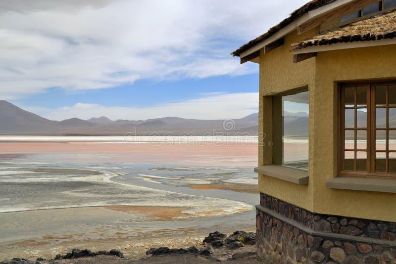 Laguna Colorada en Bolivia imagen de archivo