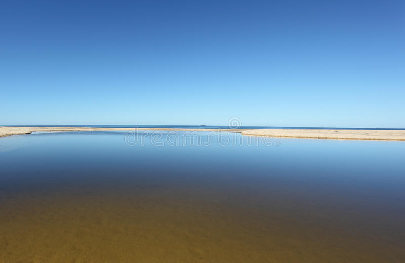 Laguna costiera fotografie stock libere da diritti