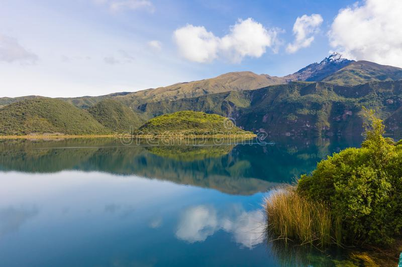 Laguna of Cuicocha and Cotacachi volcan. Ecuador royalty free stock images