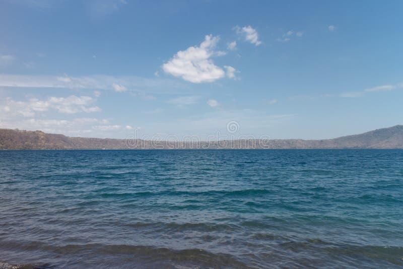 Laguna DE Apoyo, het landschap van Nicaragua royalty-vrije stock afbeelding
