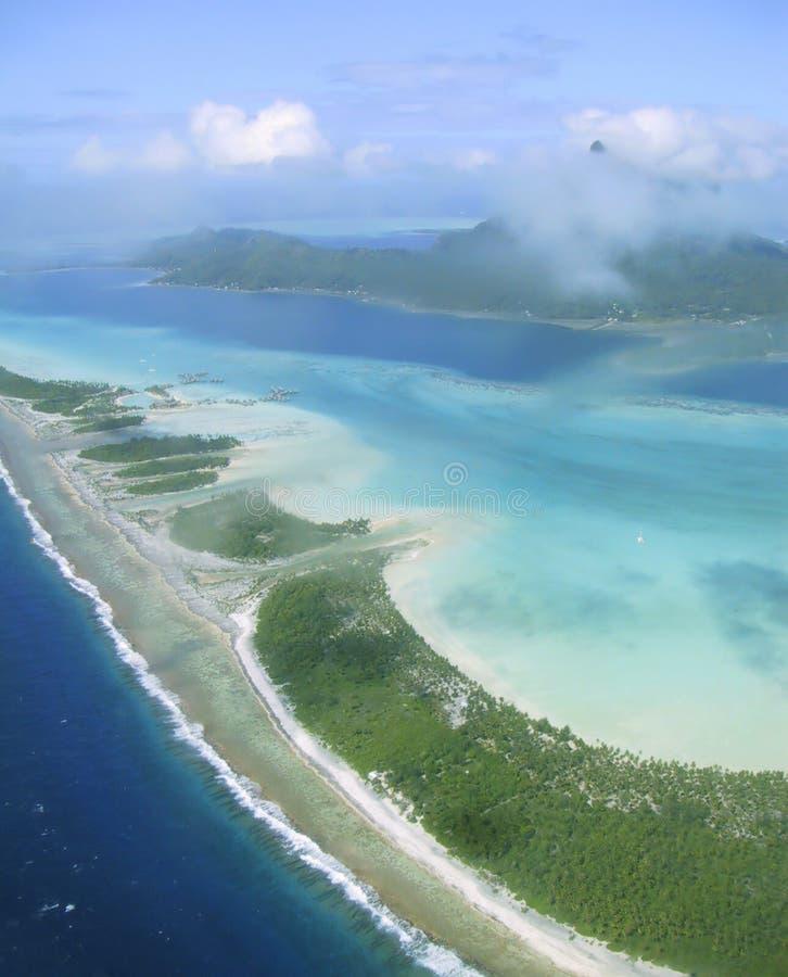 Laguna de Bora Bora fotografía de archivo libre de regalías