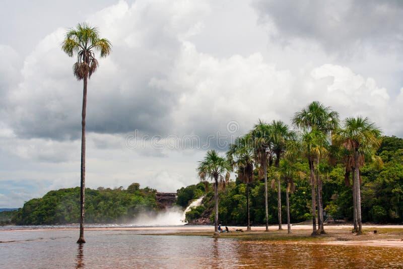 Laguna de Canaima - национальный парк Canaima, Венесуэла стоковое изображение rf