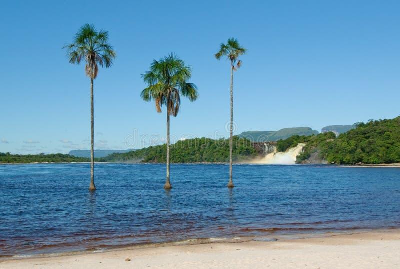 Laguna de Canaima, Venezuela imagen de archivo libre de regalías