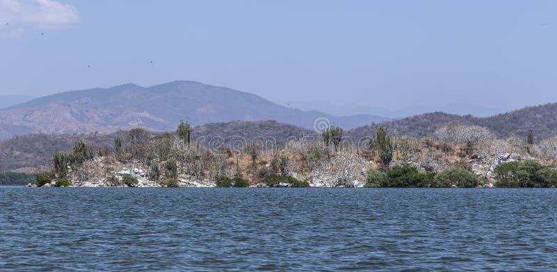 Laguna de Chacahua en Oaxaca, México imágenes de archivo libres de regalías