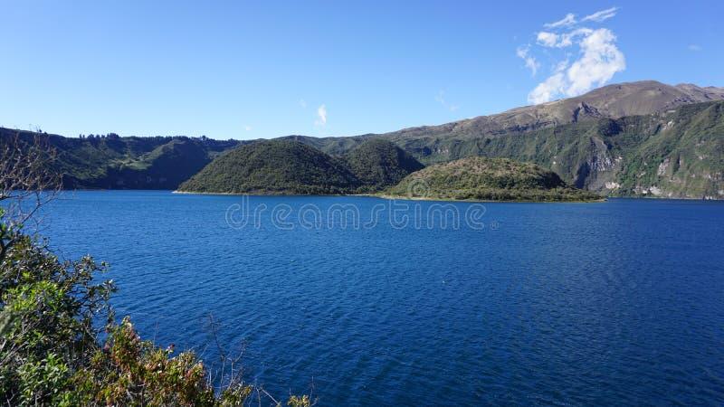 Laguna De Cuicocha Ekwador zdjęcie royalty free