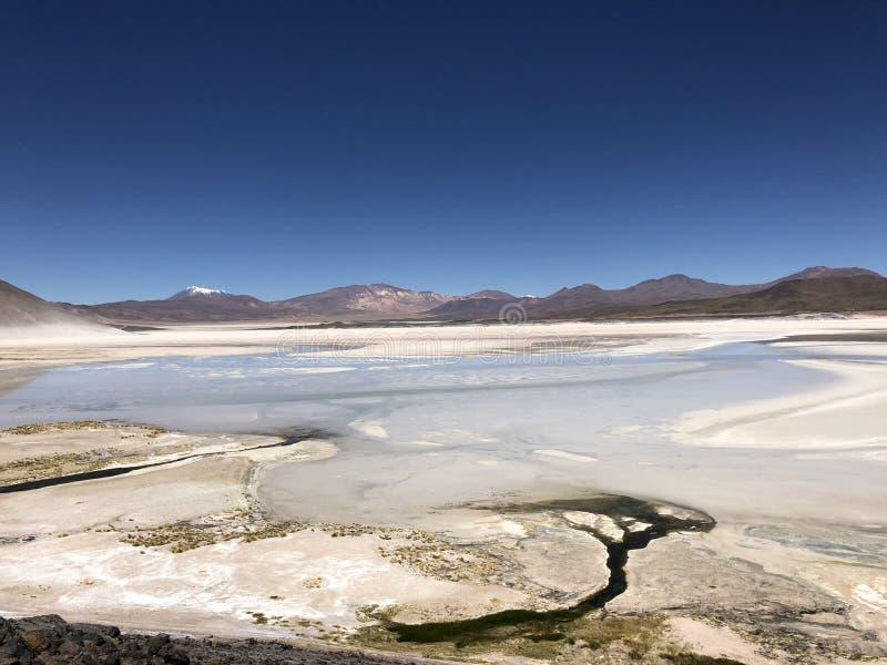 Laguna de la sal en Atacama, Chile fotografía de archivo libre de regalías
