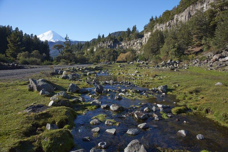 Laguna de Laja nationalpark, Chile arkivbilder