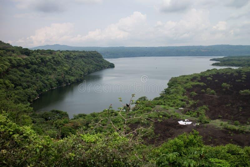 Laguna de Masaya view from Nicaragua. Laguna de Masaya from Nicaragua royalty free stock images