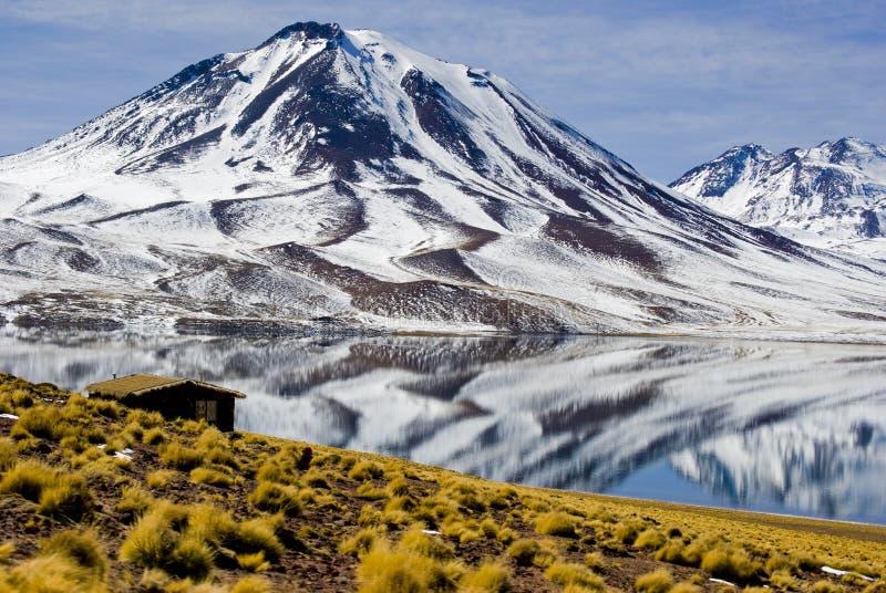 Laguna de Miscanti imagen de archivo