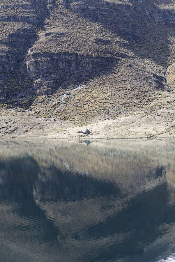 Laguna de Ticlio foto de archivo libre de regalías