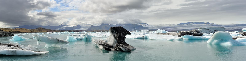Laguna del glaciar foto de archivo libre de regalías