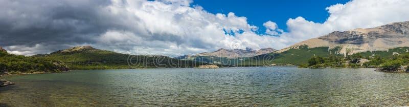 Laguna Del Pato lake in Los Glaciares National park in Argentina stock photo
