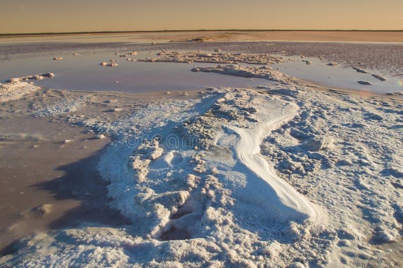 Laguna del sale, fotografia stock