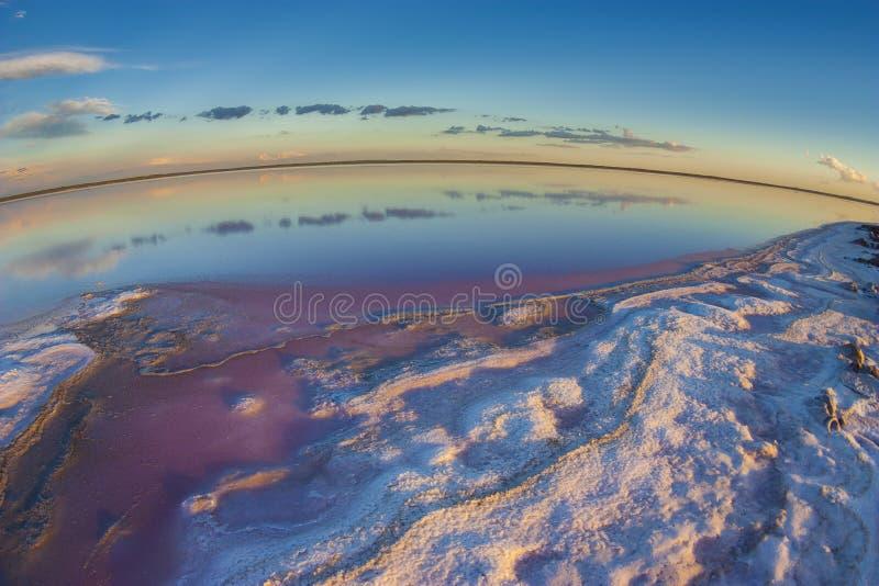 Laguna del sale, La Pampa, immagine stock libera da diritti