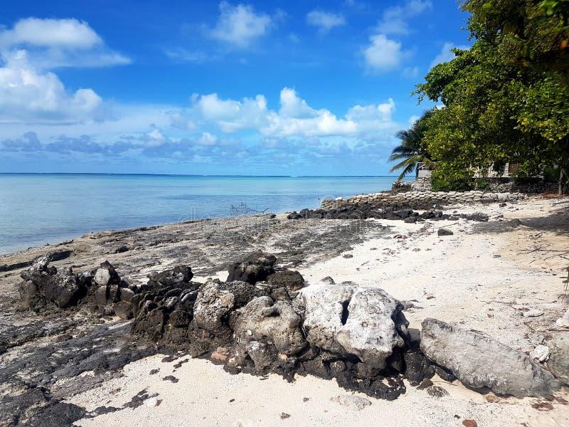 Laguna del sur de Tarawa imagenes de archivo