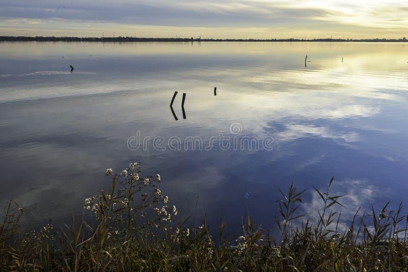 Laguna del valle de Comacchio fotos de archivo