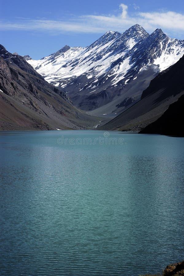 Laguna dell'inca, Cile fotografie stock