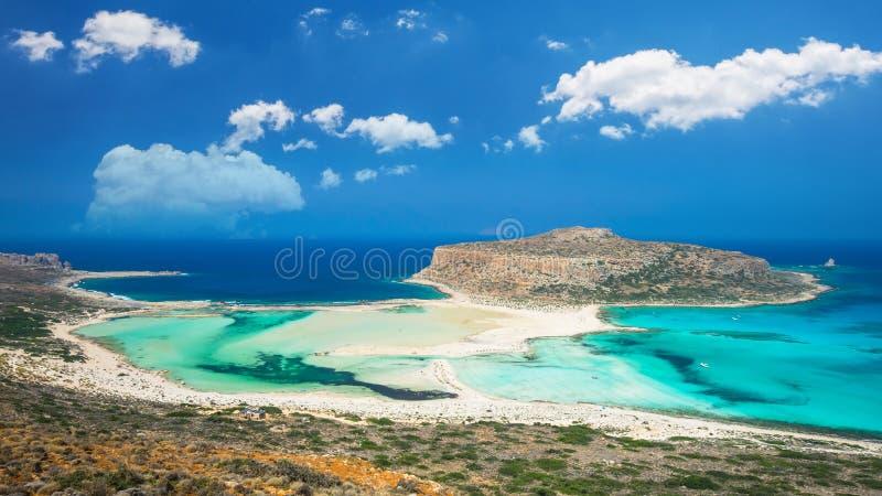 Laguna di Balos sull'isola di Creta, Grecia immagine stock libera da diritti