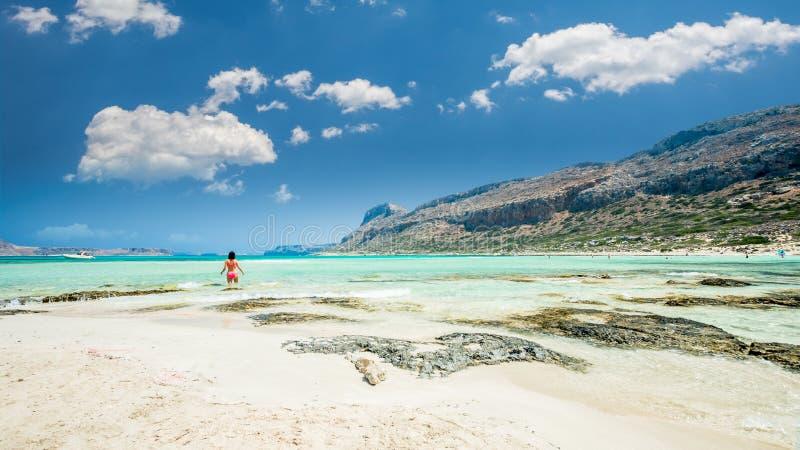 Laguna di Balos sull'isola di Creta, Grecia fotografia stock