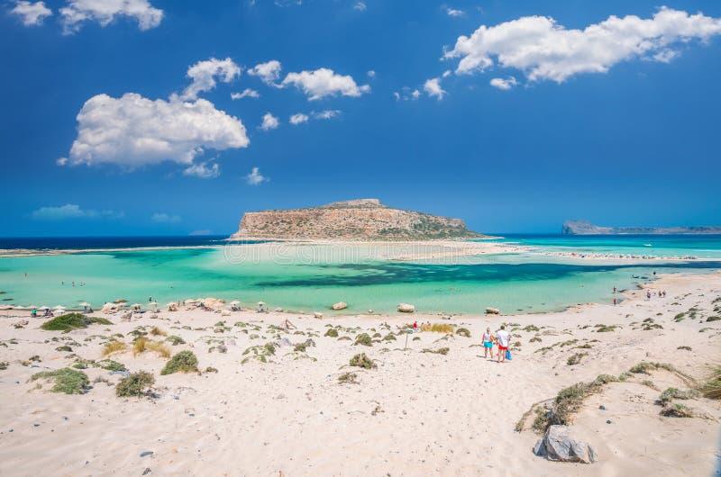Laguna di Balos sull'isola di Creta, Grecia fotografia stock libera da diritti