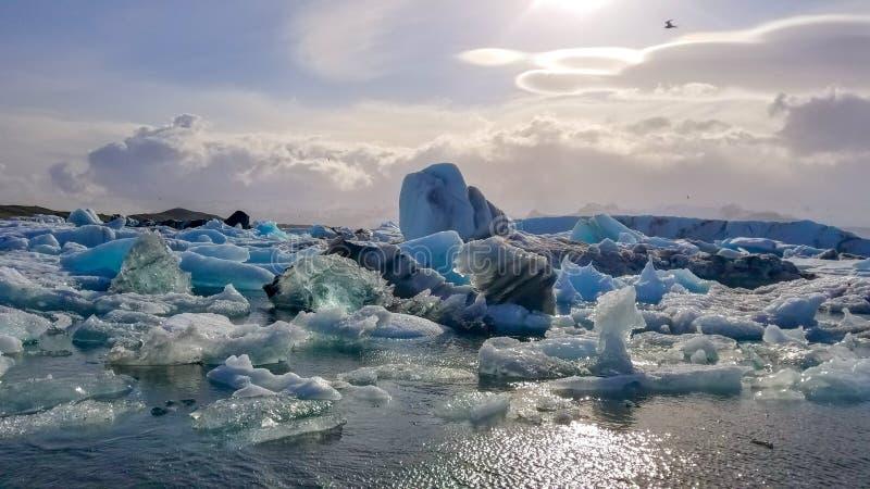 Laguna di Glaciar in Islanda fotografia stock libera da diritti
