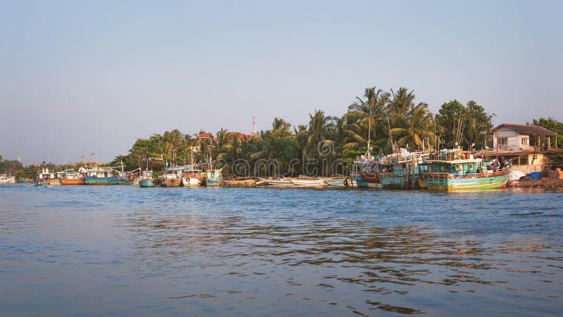 Laguna di Negombo, Sri Lanka immagini stock libere da diritti