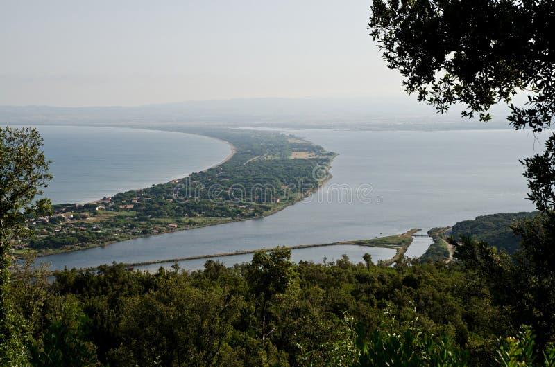 Laguna di Orbetello immagine stock libera da diritti