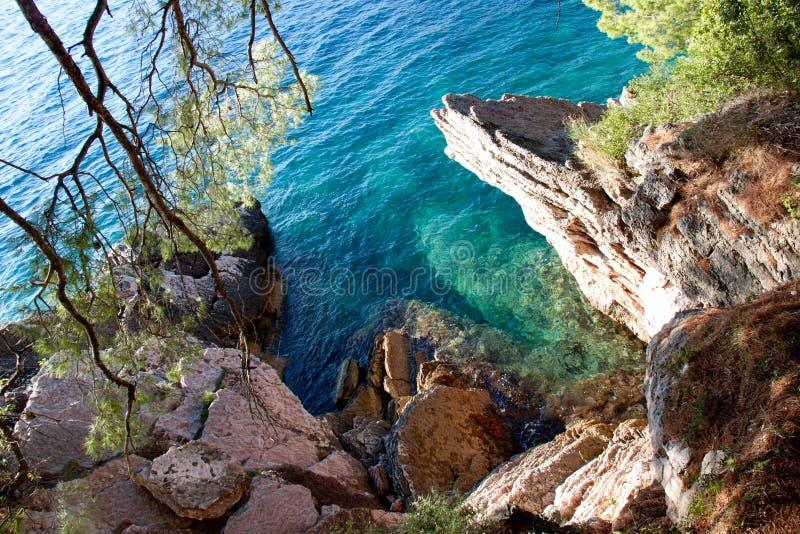 Laguna di Tipical l'Adriatico immagine stock libera da diritti