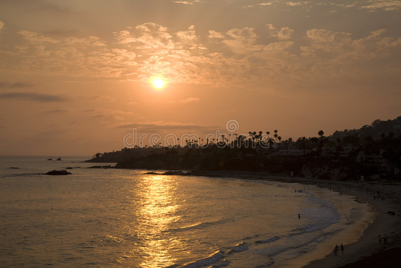 laguna för 2 strand solnedgång royaltyfri bild